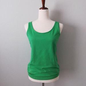 Talbots Green Scoop Neck /Scoop Back Tank Top Mp